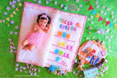 ママたちの間で人気爆発☆赤ちゃんの「おひるねアート」撮影会